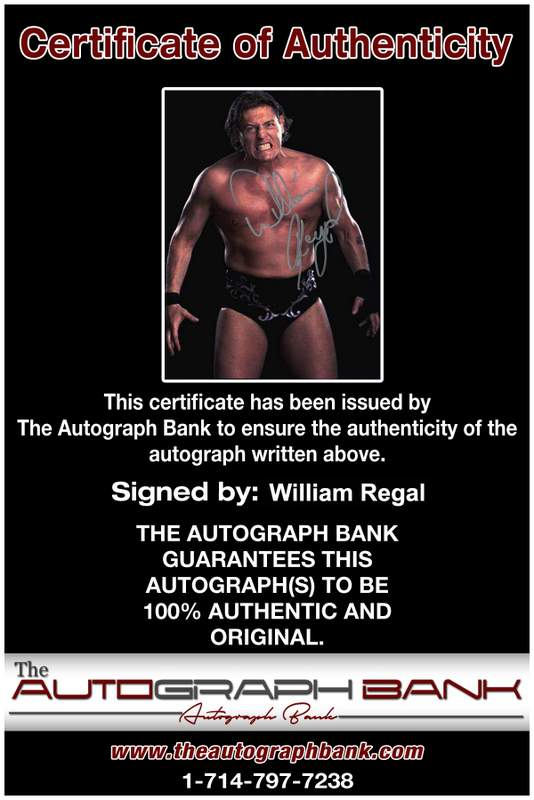William Regal authentic signed WWE wrestling 8x10 photo W/Cert Autographed 01 Certificate of Authenticity from The Autograph Bank