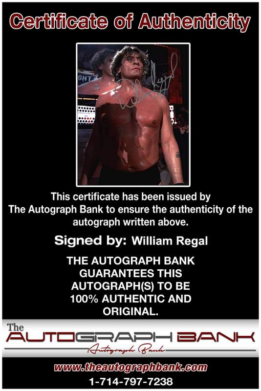 William Regal authentic signed WWE wrestling 8x10 photo W/Cert Autographed 14 Certificate of Authenticity from The Autograph Bank