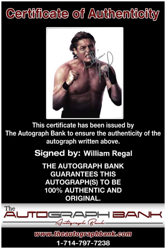 William Regal authentic signed WWE wrestling 8x10 photo W/Cert Autographed 15 Certificate of Authenticity from The Autograph Bank