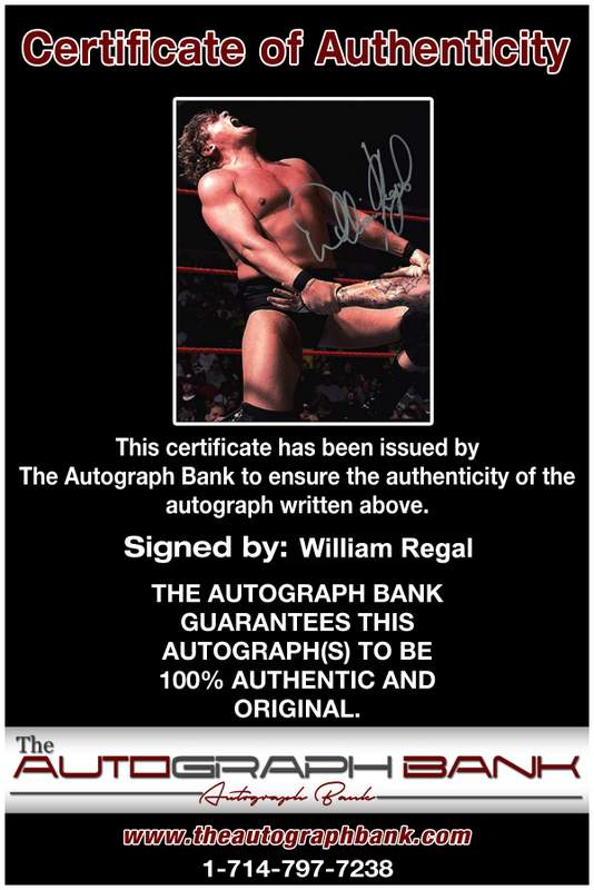 William Regal authentic signed WWE wrestling 8x10 photo W/Cert Autographed 16 Certificate of Authenticity from The Autograph Bank