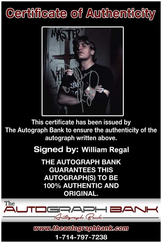 William Regal authentic signed WWE wrestling 8x10 photo W/Cert Autographed 17 Certificate of Authenticity from The Autograph Bank