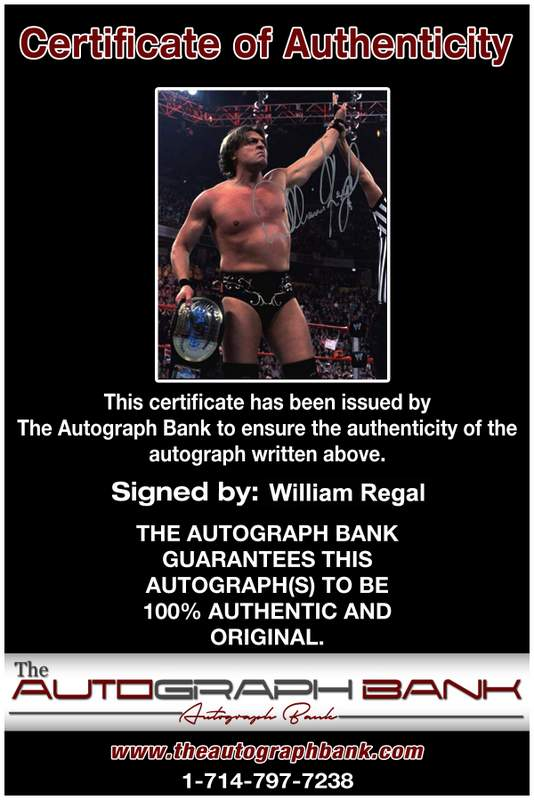 William Regal authentic signed WWE wrestling 8x10 photo W/Cert Autographed 18 Certificate of Authenticity from The Autograph Bank