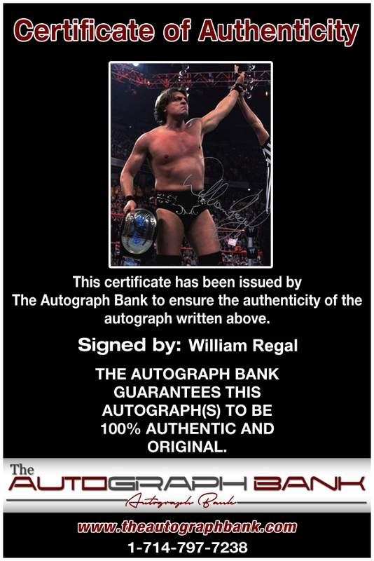 William Regal authentic signed WWE wrestling 8x10 photo W/Cert Autographed 19 Certificate of Authenticity from The Autograph Bank