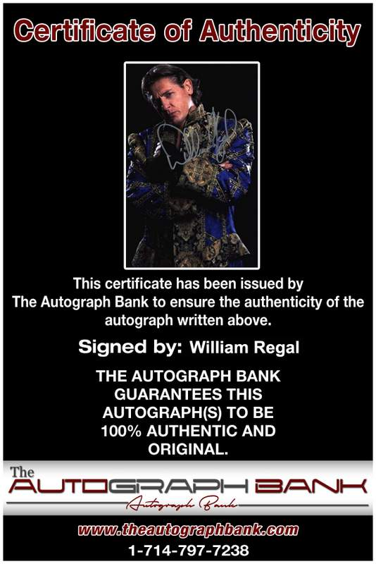 William Regal authentic signed WWE wrestling 8x10 photo W/Cert Autographed 20 Certificate of Authenticity from The Autograph Bank