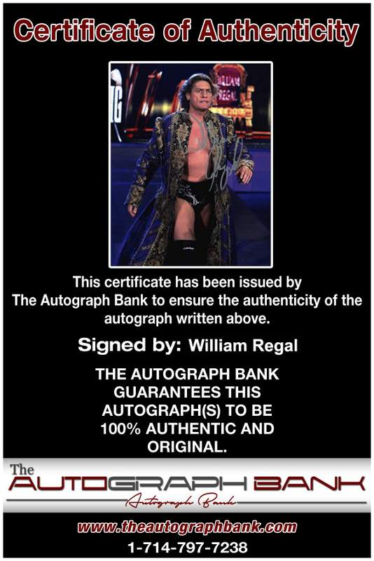 William Regal authentic signed WWE wrestling 8x10 photo W/Cert Autographed 21 Certificate of Authenticity from The Autograph Bank