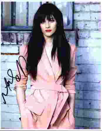 Aubrey Peeples signed 8x10 poster