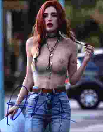 Bella Thorne signed 8x10 poster