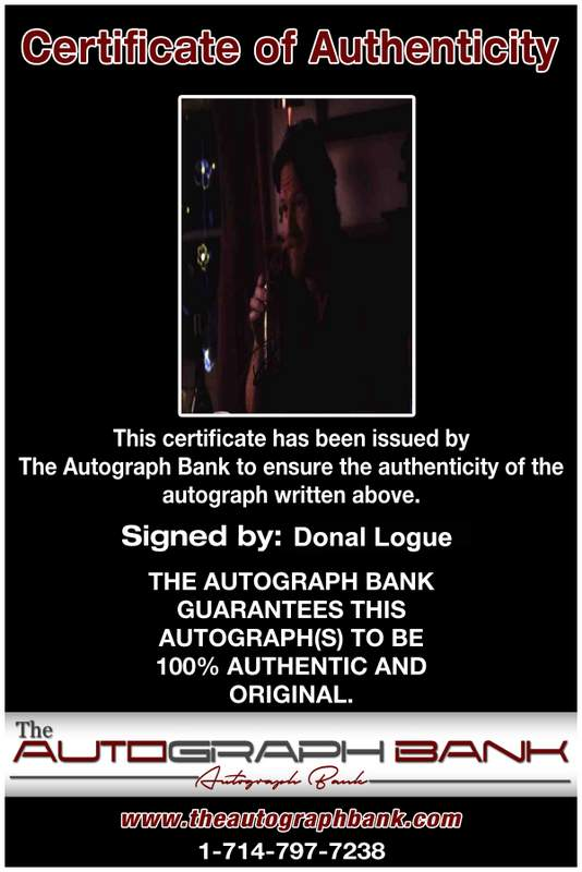 Donal Logue Certificate of Authenticity from The Autograph Bank