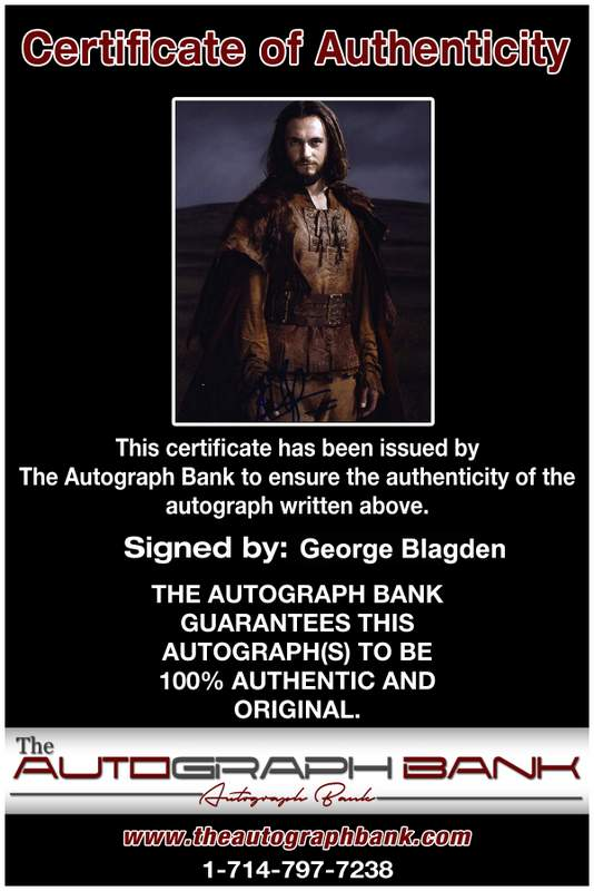 George Blagden Certificate of Authenticity from The Autograph Bank
