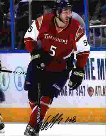 NHL Boris Valabik signed 8x10 photo