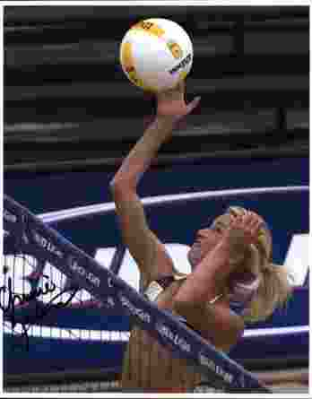 Volleyball player Chrissie Zartman signed 8x10 photo