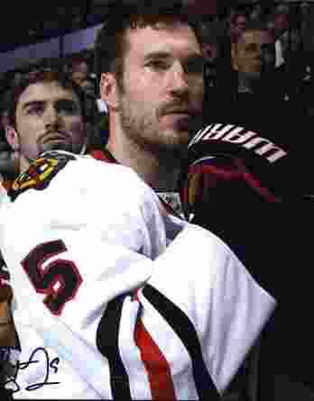 NHL Steve Montador signed 8x10 photo