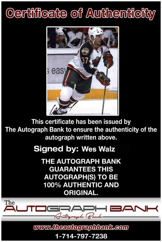 Certificate of Authenticity from The Autograph Bank