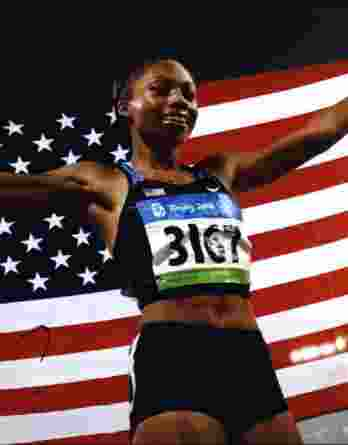 Olympic Track Allyson Felix signed 8x10 photo