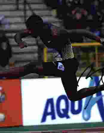 Olympic Track Bershawn Jackson signed 8x10 photo