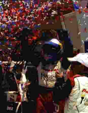 IndyCar series racing Buddy Rice signed 8x10 photo