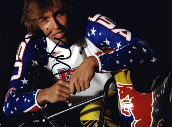 Olympic BMX Mike Day signed 8x10 photo