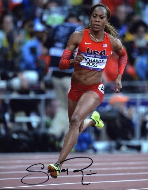 Olympic Track Sanya Richards-Ross signed 8x10 photo