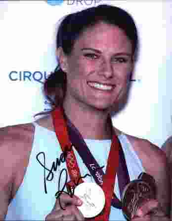 Olympic Rowing Susan Francia signed 8x10 photo