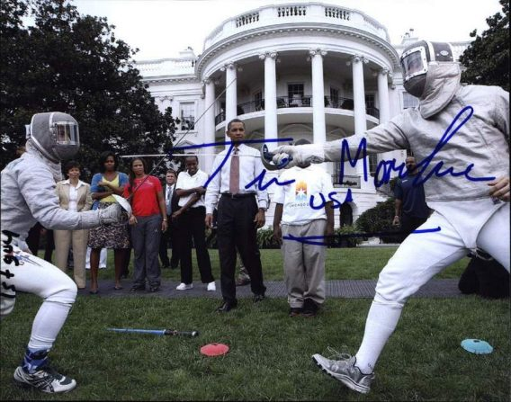 Olympic Fencing Tim Morehouse signed 8x10 photo